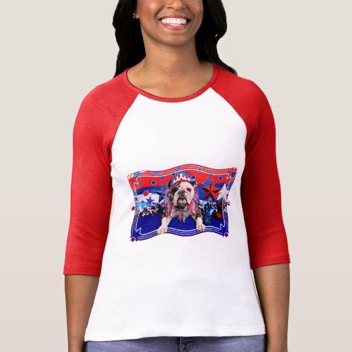 July 4th - Bulldog - Delilah Tshirts