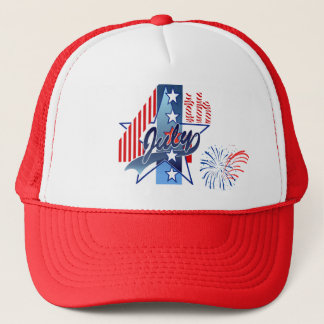 JULY 4th by SHARON SHARPE Trucker Hat