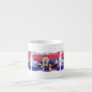 July 4th - Cairn Terrier - Roxy 6 Oz Ceramic Espresso Cup