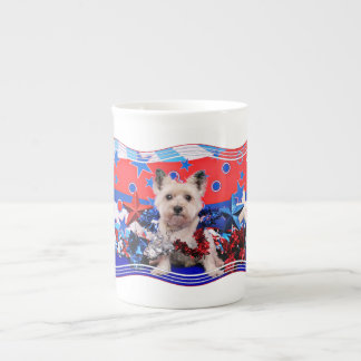 July 4th - Cairn Terrier - Roxy Tea Cup