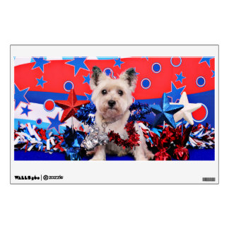 July 4th - Cairn Terrier - Roxy Wall Decals
