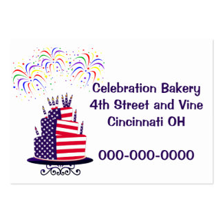 July 4th Cake Chubby 100 pack Ad Cards Large Business Cards (Pack Of 100)