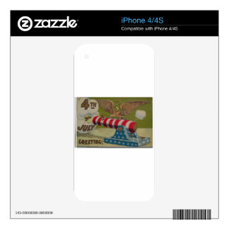 July 4th Cannon Skins For The iPhone 4S