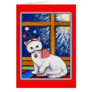 July 4th cat card