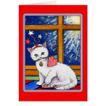 July 4th cat greeting card