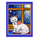 July 4th cat postcards