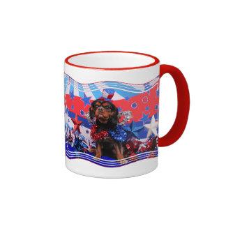 July 4th - Cavalier King Charles Spaniel - Charlie Coffee Mug