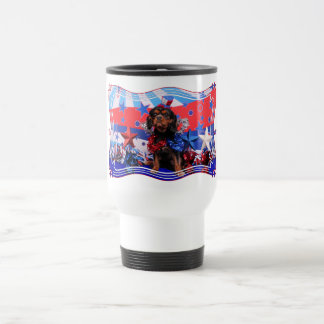 July 4th - Cavalier King Charles Spaniel - Charlie Coffee Mugs