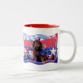 July 4th - Cavalier King Charles Spaniel - Charlie Mugs