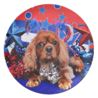 July 4th - Cavalier King Charles Spaniel - Cooper Plate