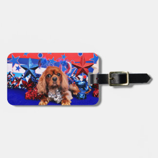 July 4th - Cavalier King Charles Spaniel - Cooper Travel Bag Tags