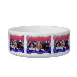 July 4th - Cavaliers - Rosie Poppy SweetPea Cat Food Bowls