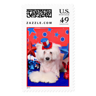 July 4th - Chinese Crested - Dash Stamp