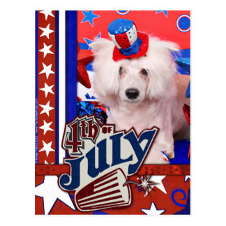 July 4th - Chinese Crested - Dash Postcard