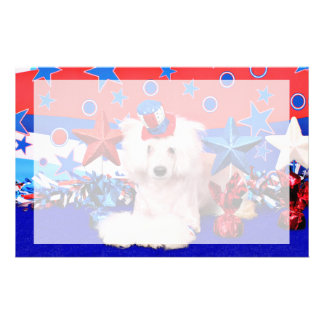 July 4th - Chinese Crested - Dash Stationery Paper