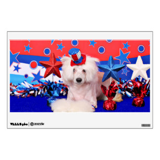 July 4th - Chinese Crested - Dash Wall Decals