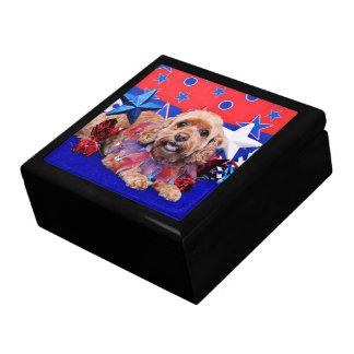 July 4th - Cockapoo - Sophie Trinket Box