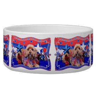 July 4th - Cockapoo - Sophie Dog Food Bowl