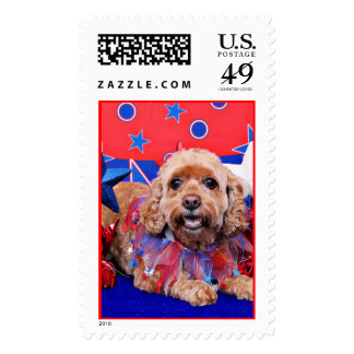 July 4th - Cockapoo - Sophie Stamps