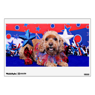July 4th - Cockapoo - Sophie Room Sticker