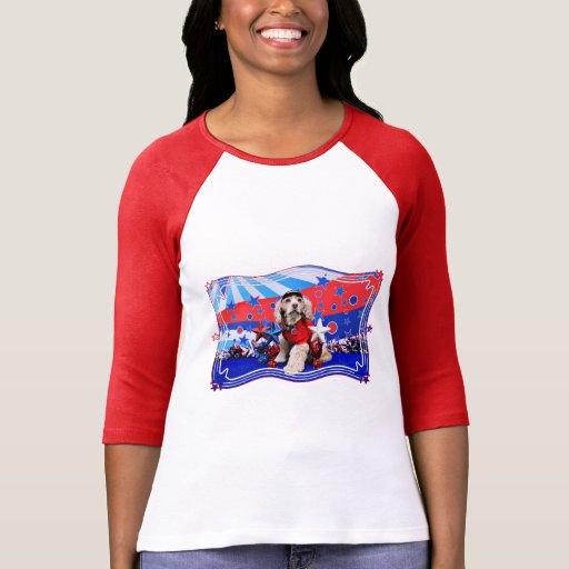 July 4th - Cocker Spaniel - Dutchie Sue T Shirt