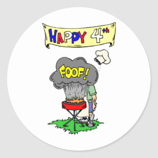 July 4th Cookout Classic Round Sticker