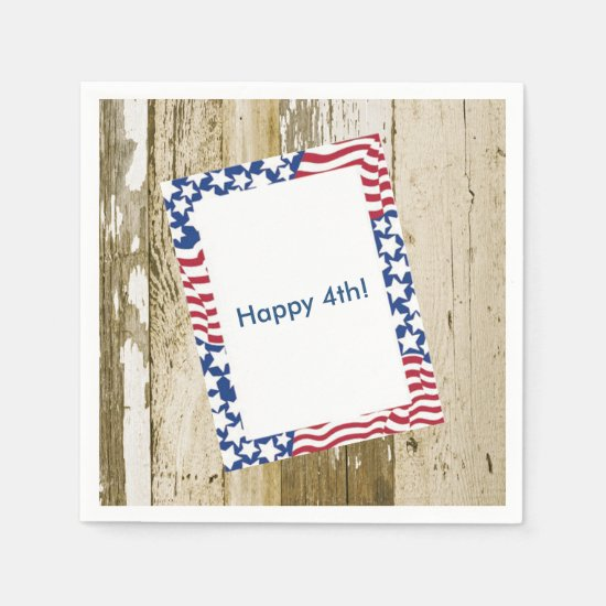 July 4th Cookout July 4th Party Paper Napkins