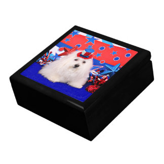 July 4th - Coton de Tulear - Claire Jewelry Box