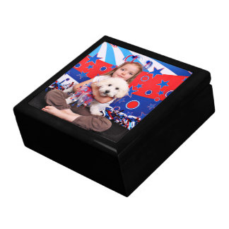 July 4th - Coton de Tulear - Reagan Keepsake Boxes