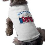 July 4th dog tshirt