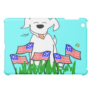 July 4th Dog with Flags iPad Mini Cover