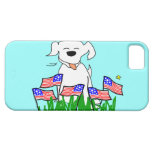 July 4th Dog with Flags iPhone 5 Covers