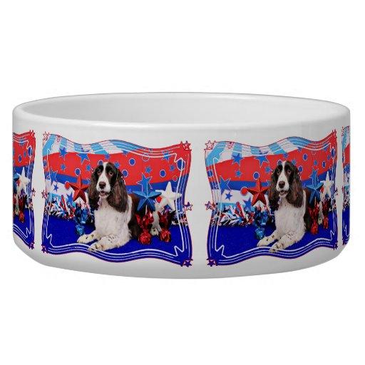 July 4th - English Springer Spaniel - Chloe Pet Water Bowl