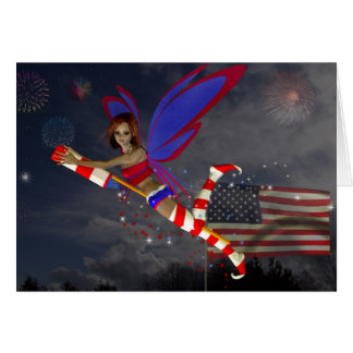 July 4th Fairy Greeting Card