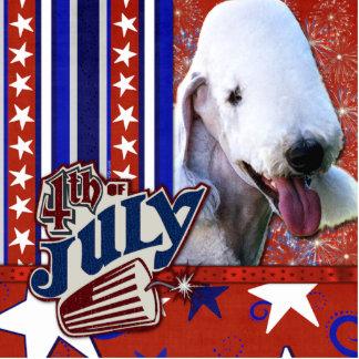 July 4th Firecracker - Bedlington Terrier Statuette