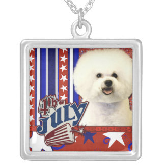 July 4th Firecracker - Bichon Frise Personalized Necklace