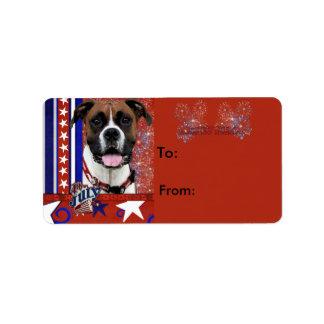 July 4th Firecracker - Boxer - Vindy Custom Address Labels