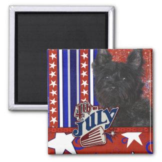 July 4th Firecracker - Cairn Terrier Dark - Rosco Fridge Magnet
