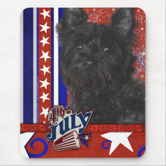 July 4th Firecracker - Cairn Terrier - Rosco Mouse Pad