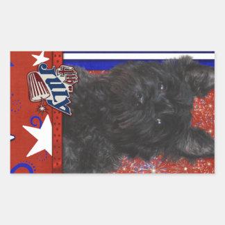 July 4th Firecracker - Cairn Terrier - Rosco Sticker