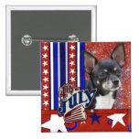 July 4th Firecracker - Chihuahua 2 Inch Square Button
