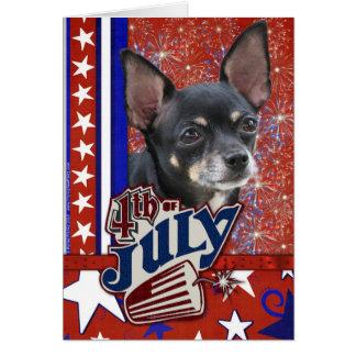 July 4th Firecracker - Chihuahua Card