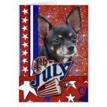 July 4th Firecracker - Chihuahua Greeting Card