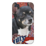 July 4th Firecracker - Chihuahua - Isabella iPhone 4/4S Cases