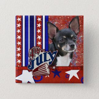 July 4th Firecracker - Chihuahua Pinback Button