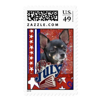 July 4th Firecracker - Chihuahua Stamps