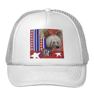 July 4th Firecracker - Chinese Crested - Jasper Trucker Hat