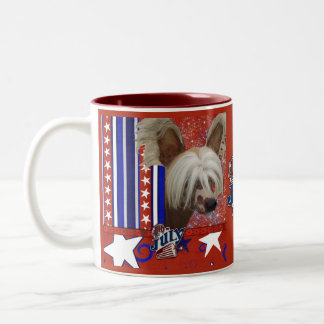 July 4th Firecracker - Chinese Crested - Jasper Two-Tone Coffee Mug