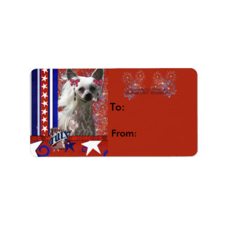 July 4th Firecracker - Chinese Crested - Kahlo Label
