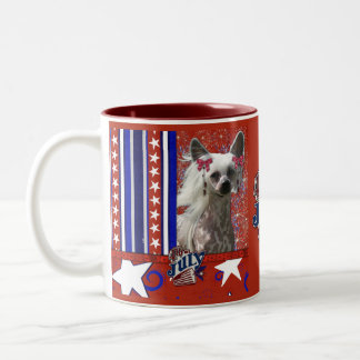 July 4th Firecracker - Chinese Crested - Kahlo Two-Tone Coffee Mug